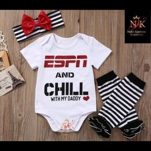 cca62d355 Other - ESPN & Chill with My Daddy Onesie or Kids T Shirt